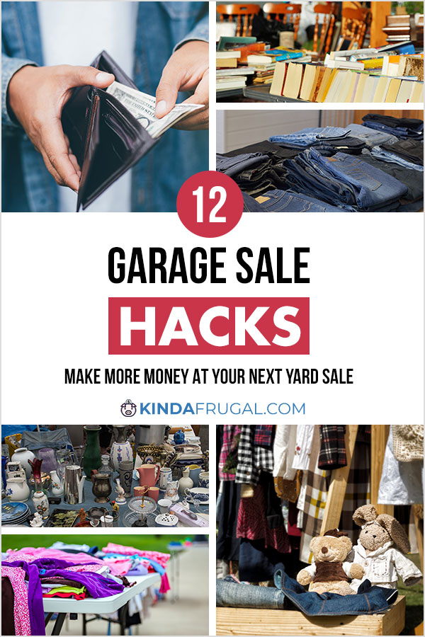 Here are 12 garage sale hacks you can use to make more sales at your next yard sale.