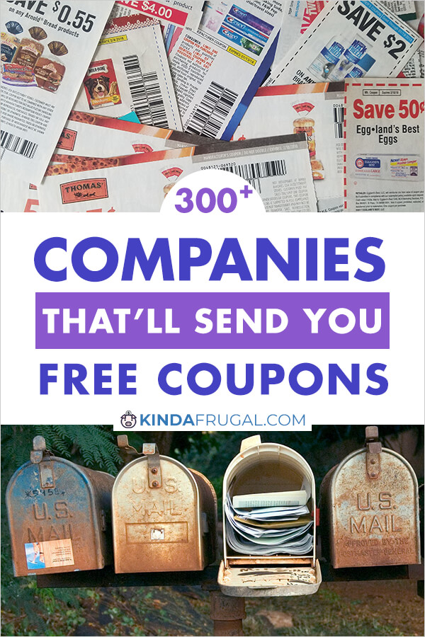 I never knew there were so many companies that would send you coupons in the mail just for asking. I'm going to contact several of the ones on this list. #coupons #couponing