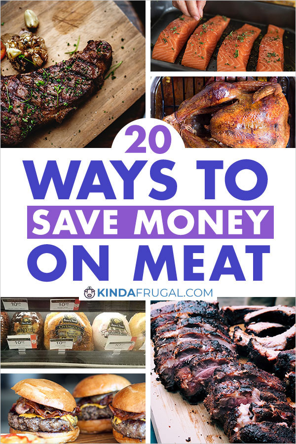 Meat takes up most of our grocery budget so I'm always looking for ways to save. Here are 20 easy ways to save money on meat.
